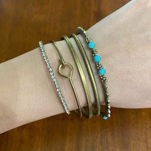 Set of 5🤎 Vintage boho bracelets bangles